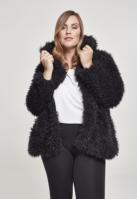 Jacheta cu gluga Teddy pentru Femei negru Urban Classics