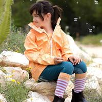 Jacheta echitatie ploaie pentru fetite