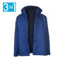 Jacheta Jack Wolfskin negru Range 3 in 1 pentru Barbati