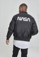 Jacheta NASA Worm Logo Bomber negru Mister Tee