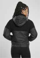 Jacheta Pulover Sherpa Mix pentru Femei negru-negru Urban Classics