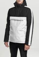 Jacheta Pulover trei culori cu captuseala cu gluga alb-negru Urban Classics