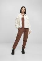 Jacheta Sherpa Trucker pentru Femei alb-murdar Urban Classics