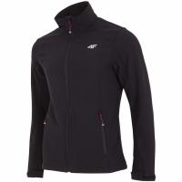Bluze de trening Softshell 4F H4L18 SFM001 negru barbati