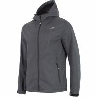 Softshell jacket 4F H4Z18 SFM001 melansa gri inchis barbati