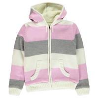 Jacheta SoulCal cu dungi tricot pentru fetite