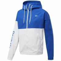 Jacheta These Adidas Linear Logo Wind albastru-alb FJ4694 pentru Barbati