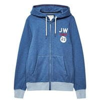 Jack Wills Shalcombe imprimeu Graphic Sweat cu fermoar