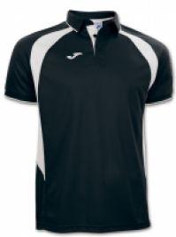 Tricouri polo Joma Champion III negru cu maneca scurta