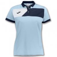 Tricouri polo Joma Crew II cu maneca scurta Skyblue-bleumarin pentru Femei