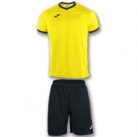 Joma Set Academy galben-negru cu maneca scurta