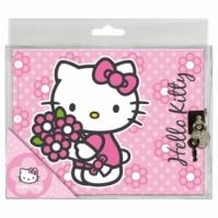 Jurnal Cu Incuietoare Flowers Hello Kitty