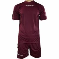 Set Givova kit echipament fotbal complet MC visiniu