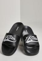 Koln City Slides negru-alb Schlappos