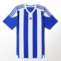 Tricou adidas cu dungi 15 alb / albastru S16138 barbati