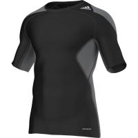 Tricou adidas TECHFIT COOL SS negru / grafitowa S19441 barbati teamwear adidas teamwear