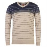 Pulovere tricotate Lee Cooper cu dungi V pentru Barbati