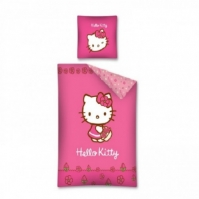 Lenjerie De Pat Flowers Hello Kitty