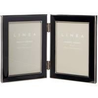 Linea Cream enamel frame hinged 4x6