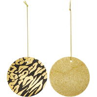 Linea Leopard Print & Gold Glitter Gift Tags