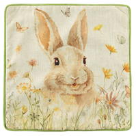 Linens and Lace Rabbit Cushion