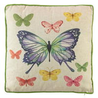 Linens and Lace Butterfly Cushion