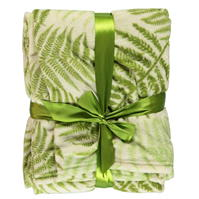 Linens and Lace Leaves Throw