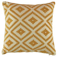 Linens and Lace Ochre Chenille Cushion