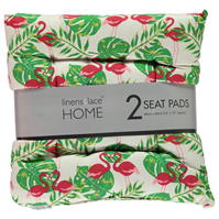 Linens and Lace Printed Seat Cushions . of 2