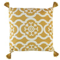 Linens and Lace Tassel Moroccan Cushion