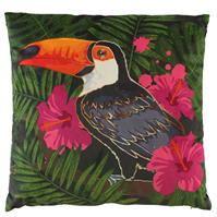 Linens and Lace Toucan Cushion