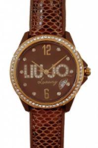 Liu-jo Luxury Time Mod Skin Marrone Gold Swarovski, 3h, Date, 36mm, Wr 5atm