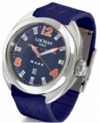 Ceas Locman Mod Mare Quartz Titanium Case 47 Mm albastru Dial - albastru cauciuc Strap Deployant Wr 100m