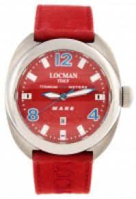 Locman Mod Mare Quartz Titanium Case 47 Mm rosu Dial - rosu Cordura Strap Wr 100m