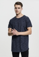 Long urban Turn Up Tee bleumarin-alb Urban Classics