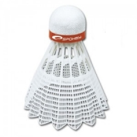 Set de 6 Fluturasi Badminton SPOKEY SHOOT rosu FAST / 83435