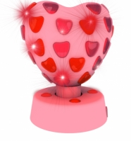 Lumina Lampa Heart Disco