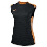 Tricou Joma Volley negru-orange fara maneci