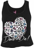 Maiou bumbac cu imprimeu leopard Dance negru Urban Dance