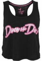 Maiouri sala bumbac neon cu mesaje Dance negru-roz Urban Dance