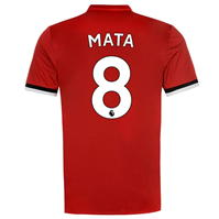 adidas Manchester United Home Mata Shirt 2017 2018