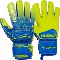 Manusi de Portar Reusch Fit Control S1 galben-albastru 3972215 883 pentru copii