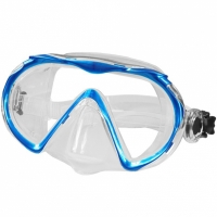 Masca Snorkeling Aqua-Speed Kuma albastru deschis, Round 01 femei