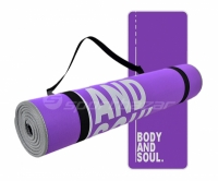 Saltea aerobic Profit Body and Soul 180x60x0,6cm mov DK 705-N