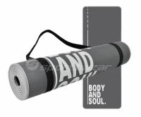 Saltea aerobic Profit Body and Soul 180x60x0,6cm gri DK 705-N
