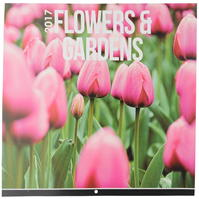 Mega Value 2017 Floral Square Calendar
