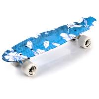 Skateboard METEOR multicolor albastru alb flowers 23877