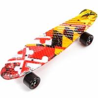 Skateboard METEOR multicolor formula 1 24469