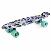 Skateboard METEOR multicolor violet-gri camo 24462