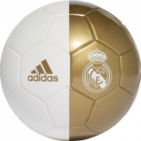 Mergi la Minge fotbal Adidas Real Madrid Mini alb Gold DY2529